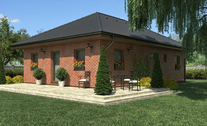bungalov line 83 rodinn domy haas fertigbau. Black Bedroom Furniture Sets. Home Design Ideas